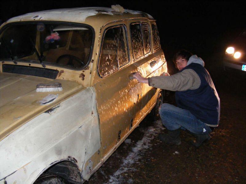 carrosserie aprs une nuit entire de ponage